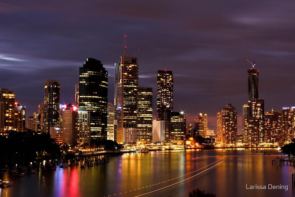 Brisbane City, Australia at night by Larissa Dening