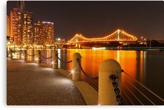 Story Bridge, Brisbane at night by Larissa Dening