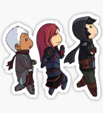 Midworld cute chibi trio Sticker