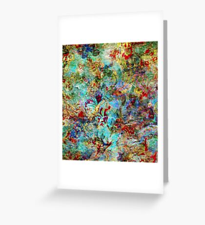 Rustic Colorful Floral Collage Grunge Syle Greeting Card