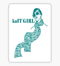 knIT GIRL Sticker
