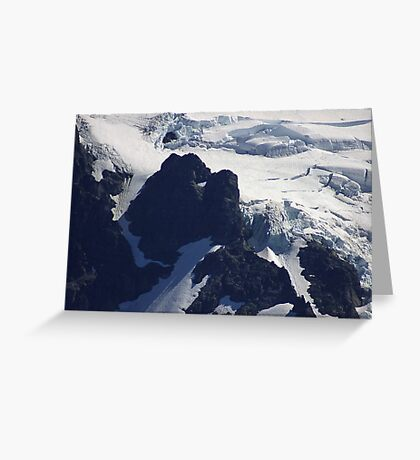 where glacier meets mountain Greeting Card