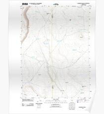 USGS Topo Map Oregon Sagebrush Knoll 20110816 TM Poster