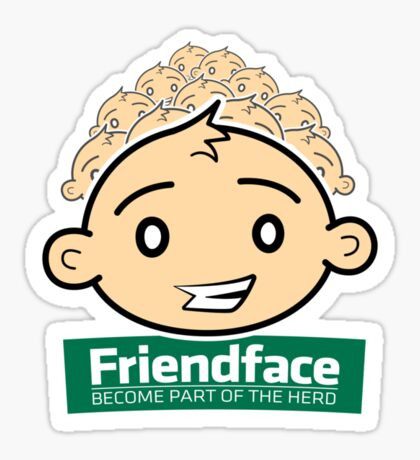 Friendface Sticker