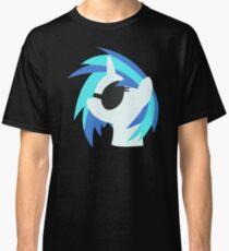Vinyl Scratch sillhouette 2  (No boarder) Classic T-Shirt