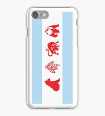 Chicago Flag with Team Logos iPhone Case/Skin