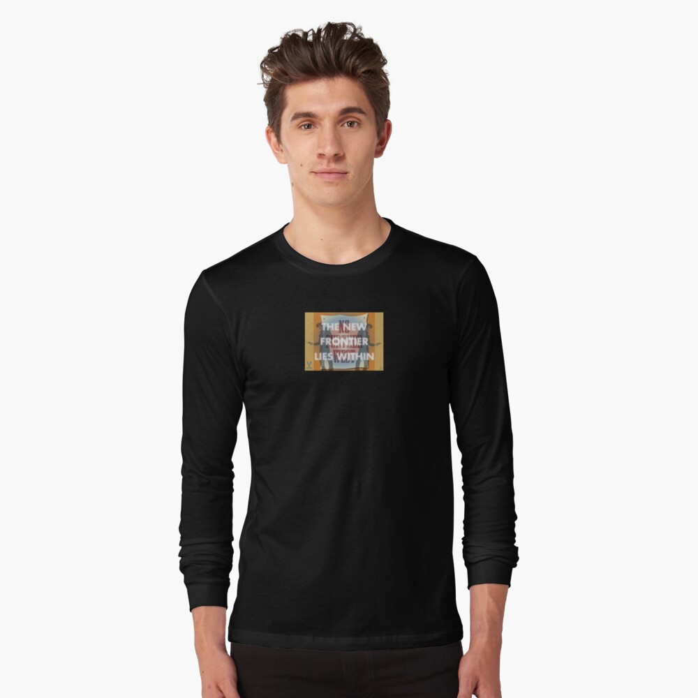The New Frontier Lies Within Long Sleeve T-Shirt Front