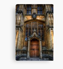 Bodleian Library Door Canvas Print