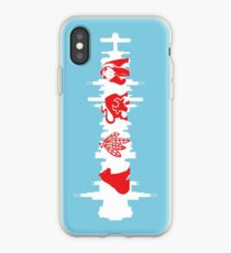 Vinilo o funda para iPhone Bandera de Chicago con Skyline