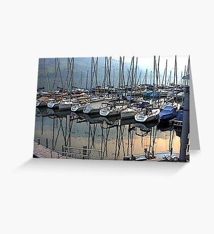 """Sailboats - Fallenbach, Switzerland"" Greeting Card"