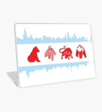 Chicago Flag with Logos and Skyline Poster Laptop Skin
