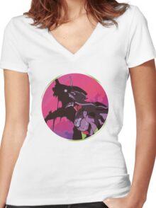 EVA 01 - Evangelion T-shirt / Poster / Phone case / Mug Women's Fitted V-Neck T-Shirt
