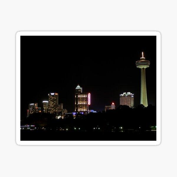 Niagara Skyline Night View Sticker