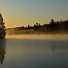 Cresent Lake in the Morning Fog by pshootermike