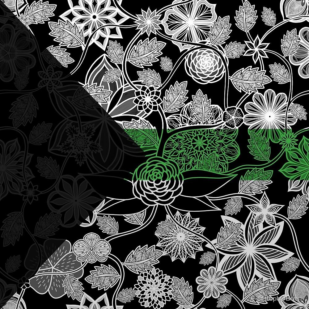 Flight Over Flowers of Fantasy - Demiromantic Pride Flag by StephOBrien
