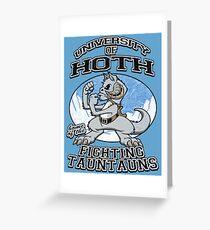 Fighting Tauntauns Greeting Card