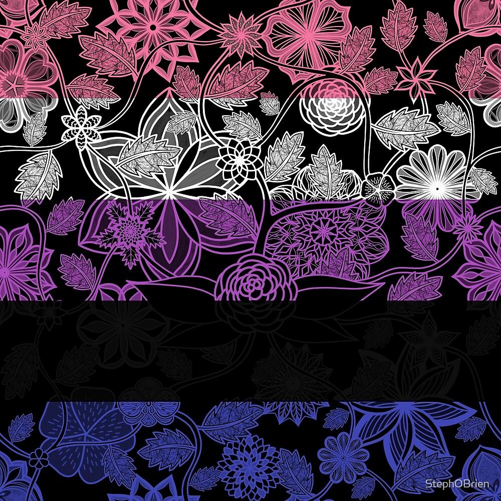 Flight Over Flowers of Fantasy - Genderfluid Pride Flag by StephOBrien
