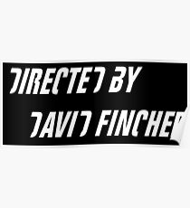Directed by David Fincher (white) Poster