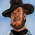 Clint Eastwood Caricature by Wayne Dowsent