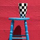 Blue stool by Garry Gay