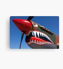Flying tiger plane Canvas Print