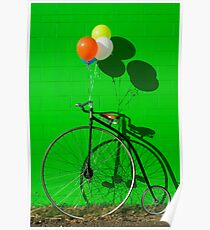 Penny farthing bike Poster