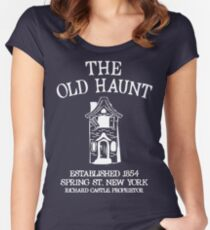 CASTLE'S BAR THE OLD HAUNT Women's Fitted Scoop T-Shirt