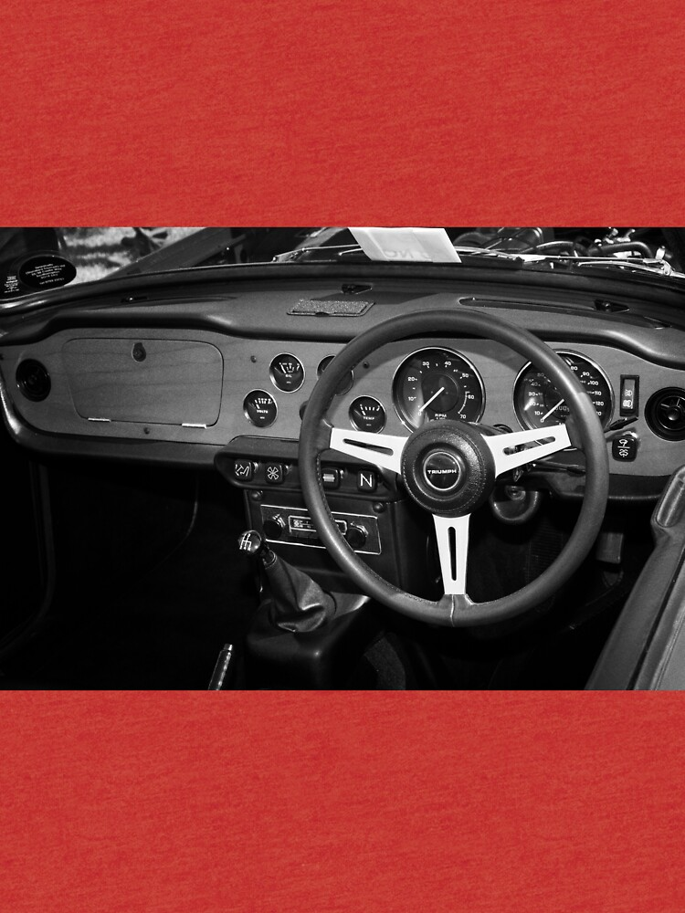 Classic Triumph TR6 Sports Car Interior by robcole