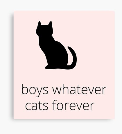 boys, whatever. cats, forever Canvas Print