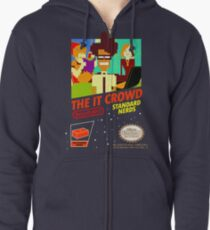 The IT Crowd NES game Zipped Hoodie