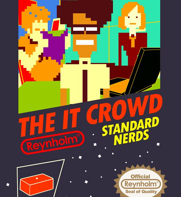 The IT Crowd NES game by Tom Trager
