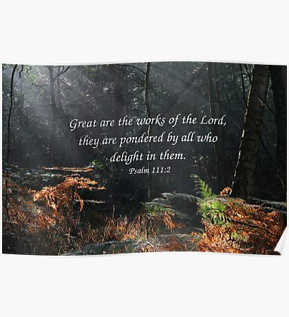 Psalm 111:2 Poster