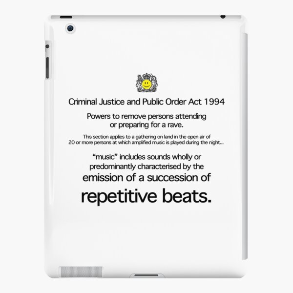 Acid House: Emission of a Succession of Repetitive Beats iPad Snap Case