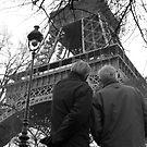 Deux Hommes et Eiffel by Patrick T. Power