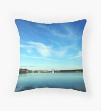 Cheticamp in the Rear View Mirror Throw Pillow