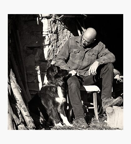 A man and his dog Photographic Print
