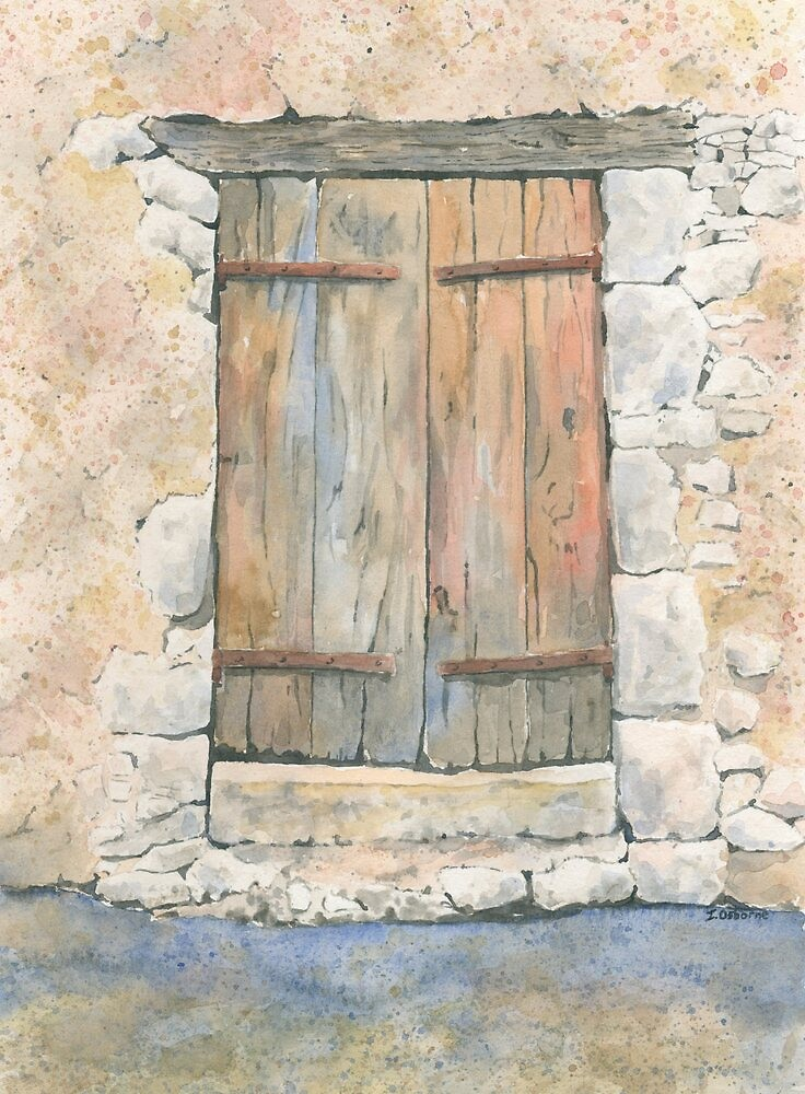 Old Door, Varaignes, France by ian osborne