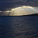 Connel Sunset Crepuscular Rays by Tim Haynes