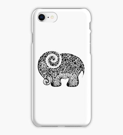 Elephant Doodle iPhone Case/Skin