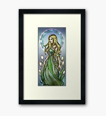 Olivia with White Tulips Framed Print