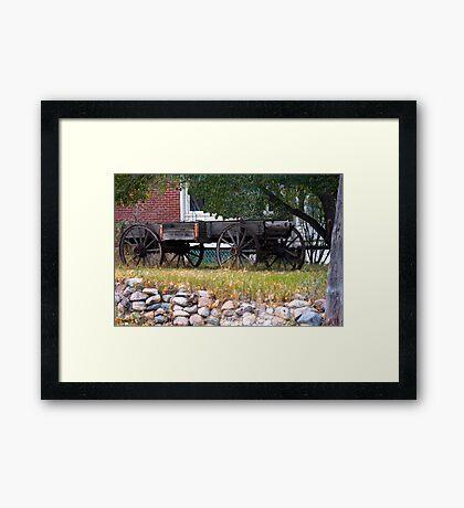 Workless Hay Wagon Framed Print