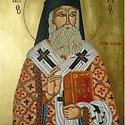 "Saint Nectarios ""Greek Icon"" by marinella"
