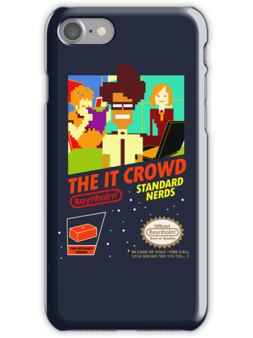 The IT Crowd NES game | iPhone Case by Tom Trager