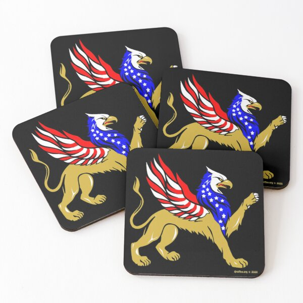 American Griffin Coasters (Set of 4)