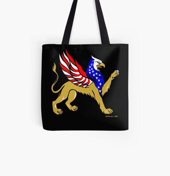 American Griffin All Over Print Tote Bag