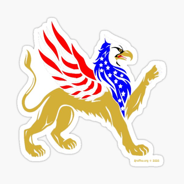American Griffin Glossy Sticker