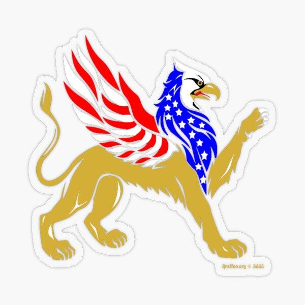 American Griffin Transparent Sticker