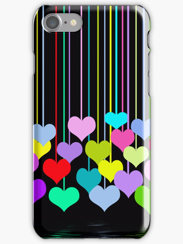 Hanging Hearts (iPhone case) by Maria Dryfhout