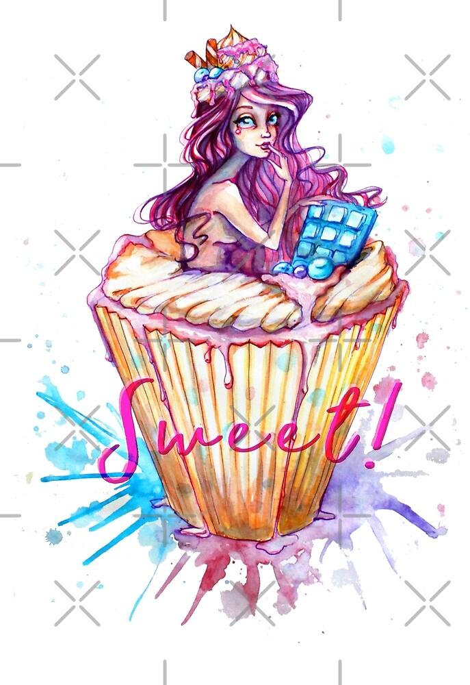 Sweet cupcake girl! by AV-art