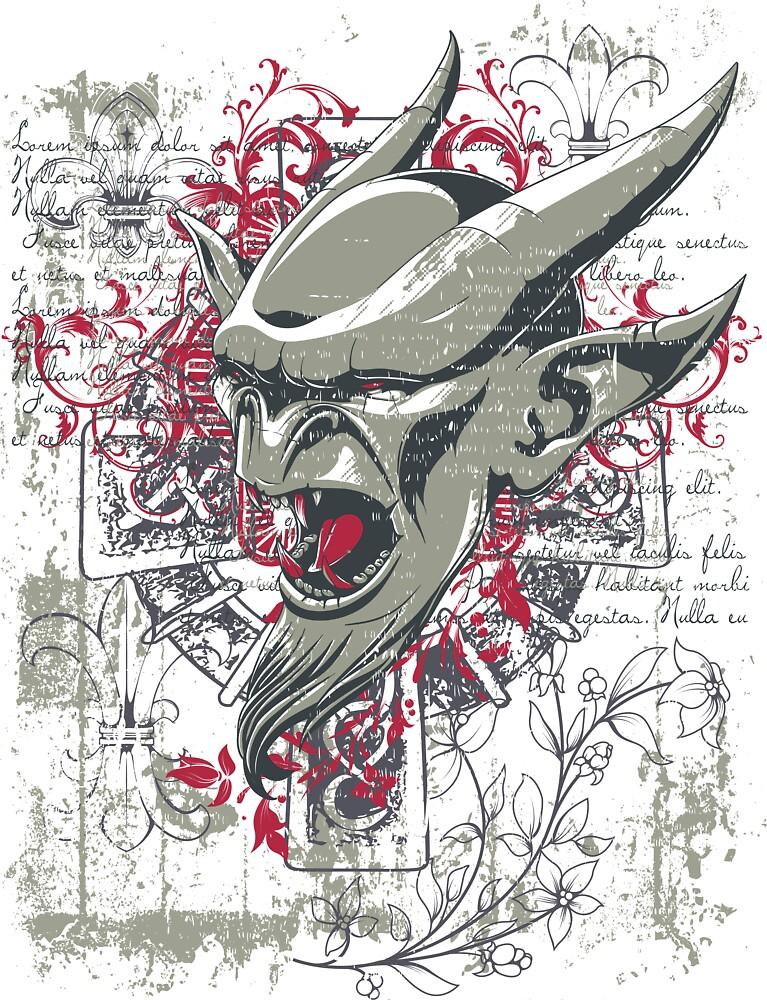 Devil Head by KimberlyMarie